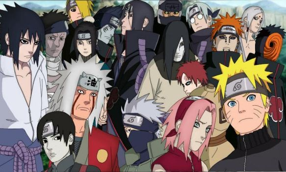 Naruto Shippuden Group by mmeades01