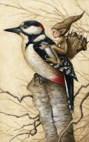 Pixy and Woodpecker by Markelli