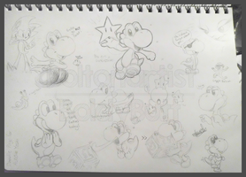 Comm: Yoshi Doodles 2 by Boltonartist