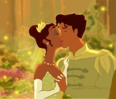 Naveen and Tiana by RachelEwok