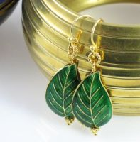 Turn A New Leaf Earrings by MielDesigns