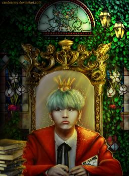 King Yoongi (Suga from BTS) by candearmy