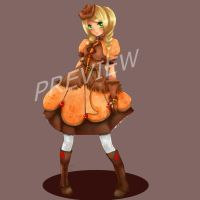 My Little Preview: AJ by xxfaye