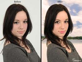 Fashion Retouching (Before and After) 01 by shaixey