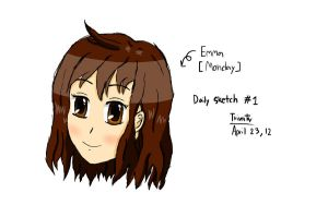 Daily Sketch #1 - Emma for Monday by F1rst-Pers0n