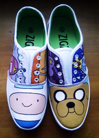 Top View Adventure Time Shoes by tofu-lion91
