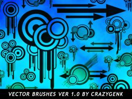 Free Vector Brushes Ver. 1.0 by crazygenk