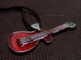 guitar necklace by monsterseverywhere