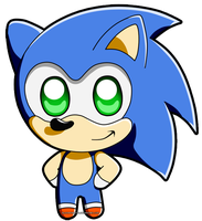Chibi Sonic by BloomPhantom