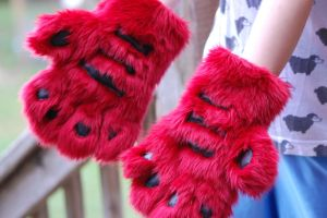 Red Dragon paws by DressedAllInFurWorks