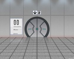 Portal Door Wallpaper by dj-corny