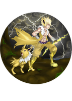 the electrifying Jolteon by aku-no-hana2