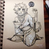 toned paper commission for krimxonrath by HJeojeo