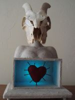 Goat Skull Night Light by artbikekayakgirl
