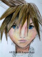 Sora face practice by Kagamikage