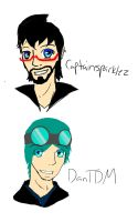 DanTDM and Captainsparklez by Meazigread