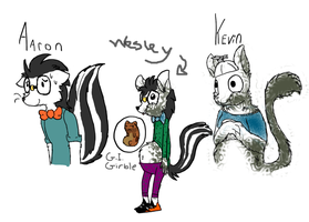 Kevin and family ( MAY TURN INTO A COMIC ) by SkyeBacca