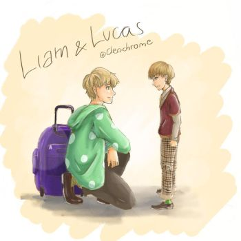 Liam and Lucas by Cleochrome
