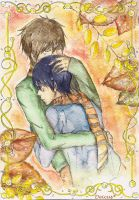 Free! Autumn is here... Makoto x Haruka by deicus4ever