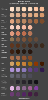 Color Palette Reference - Sara by ImpChan