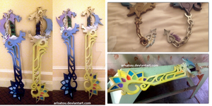 KH3D: Reality Shift Keyblades by arisatou