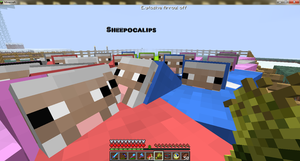 Minecraft, Sheepocalips by ChrisTheDragoon