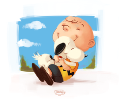 Charlie Brown and Snoopy by Dani-V