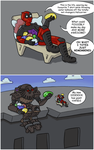 DEADPOOL and JETFIRE being awesome by RazzieMbessai