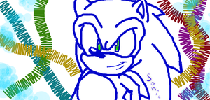 SONIC THE HEDGEHOG-DRAWING UPDATE by SonicRingBomb