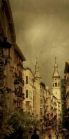 Logrono's old town by gerbenher