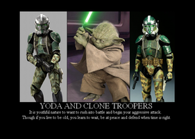 Yoda and Clone Troopers by Winter-Phantom