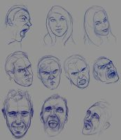 Face Sketches by Anevis