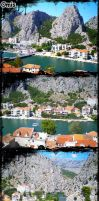 Panorama of Omis by viktike