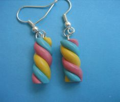 Marshmallow Earrings by ClayMyDay