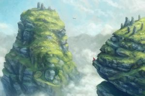 Mountains above Cloud by LyntonLevengood