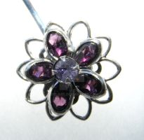 Purple Hair Clip Bobby Pin by 1337-Art