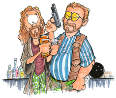 The Dude and Walter by hankinstein