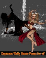 Belly Dance Poses for V4 by DiYanira