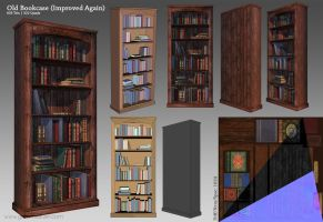Old Bookcase Render by GemmaSuen