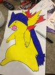 typhlosion by Gamergirlleah