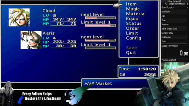 Are you ready for Final Fantasy VII Speedrun? by Fox-Akira
