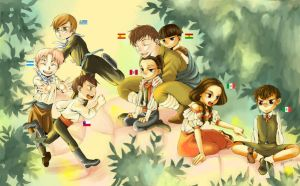 APH - Spain and the kids by Rowein