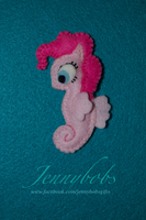 felt MLP Pinkie Pie seapony by Blindfaith-boo