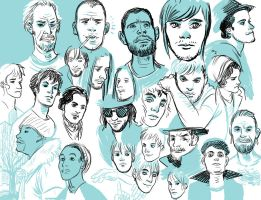 more face sketches by 20handstall
