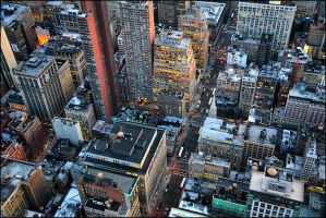 NYC from above I by toko