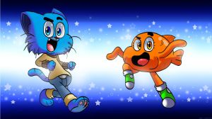 :Gumball and Darwin: by WaniRamirez