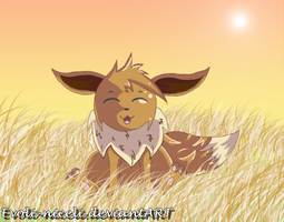 Eevee in Autumn by Evoli-niceli