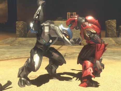 A fight over a flamethrower by ragearmthesangheili