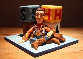Toy Story 'Woody' Cake by KatesKakes