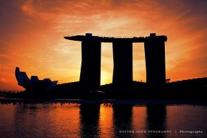 Angry Birds Towers, Singapore by njohn